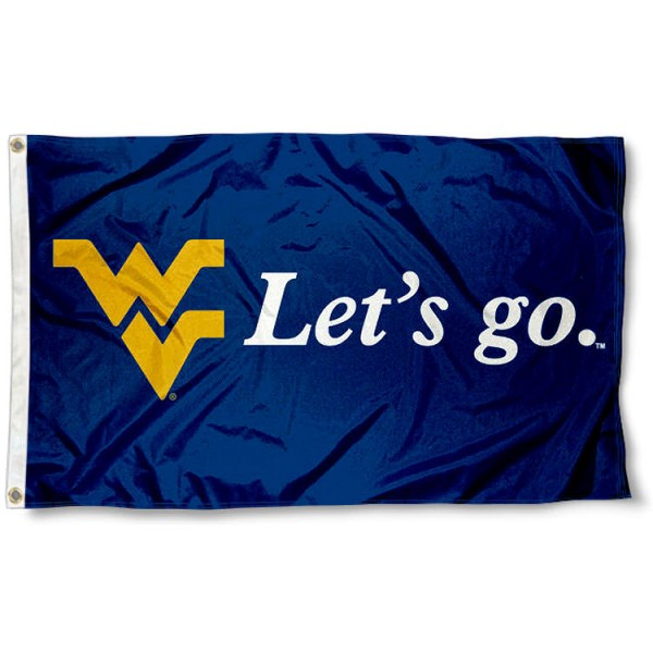 WVU Mountaineers Lets go 3x5 Foot Flag