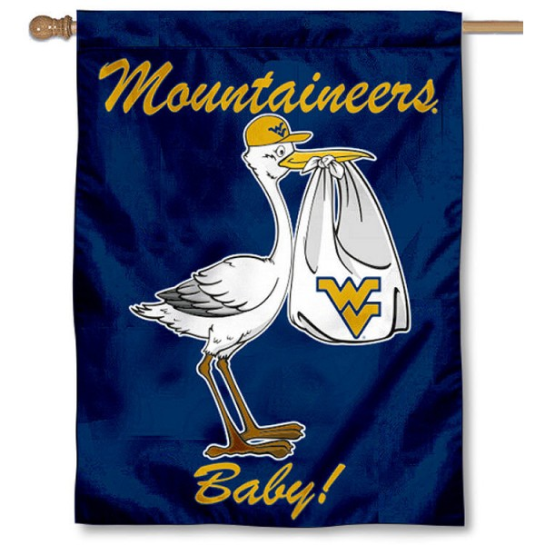 WVU Mountaineers New Baby Banner