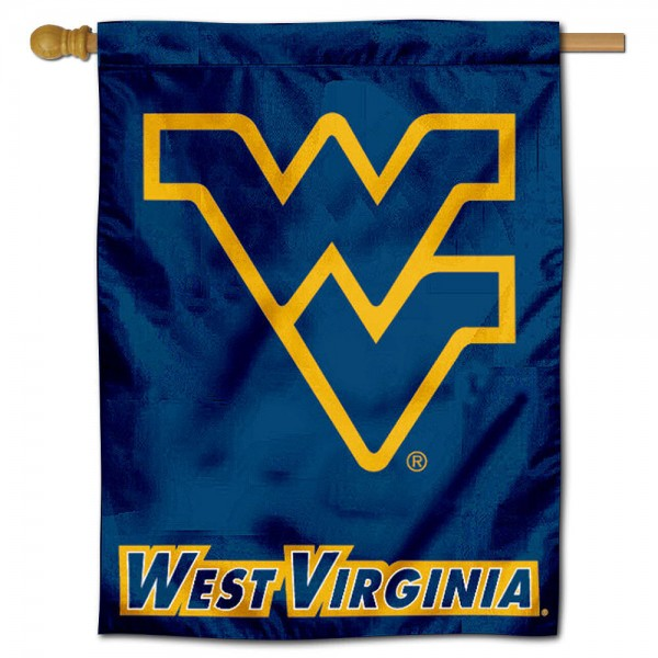 WVU Mountaineers Polyester House Flag