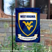WVU Mountaineers Shield Garden Flag
