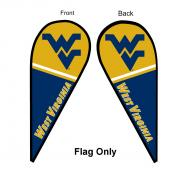 WVU Mountaineers Teardrop Flag