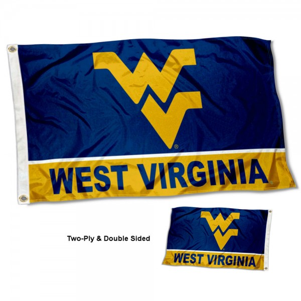 WVU Mountaineers Two Sided 3x5 Foot Flag