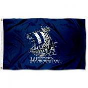 WWU Vikings Wordmark Outdoor Flag