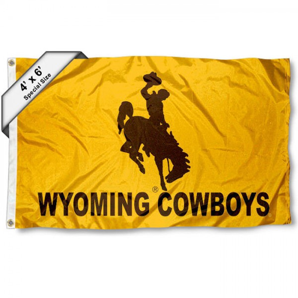 Wyoming Cowboys 4'x6' Flag
