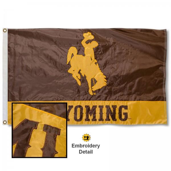 Wyoming Cowboys Appliqued Sewn Nylon Flag