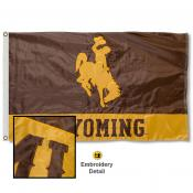 Wyoming Cowboys Appliqued Sewn Nylon Flag
