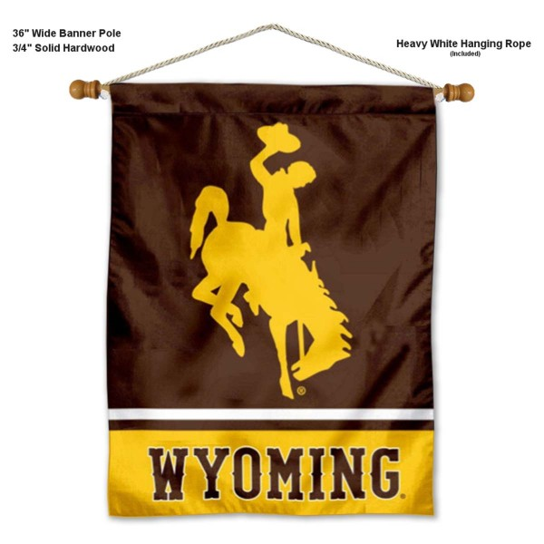 Wyoming Cowboys Banner with Pole