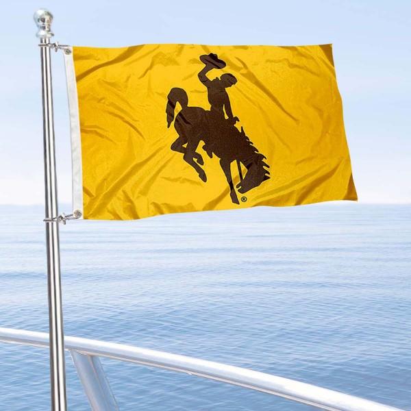 Wyoming Cowboys Boat Nautical Flag