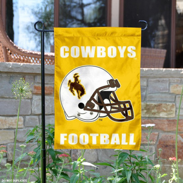 Wyoming Cowboys Football Garden Flag