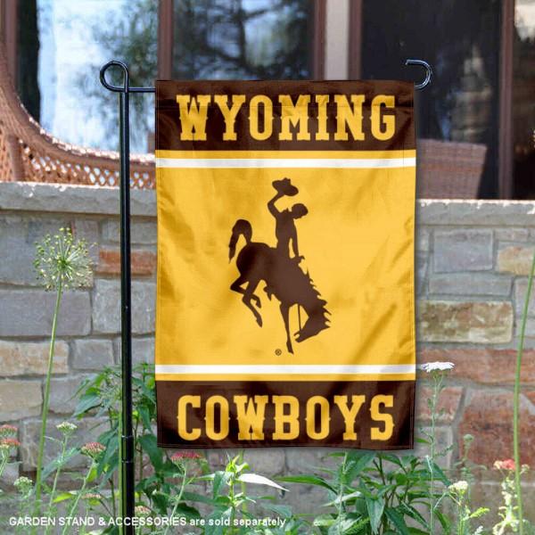 Wyoming Cowboys Garden Flag