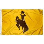 Wyoming Cowboys Gold Logo Flag