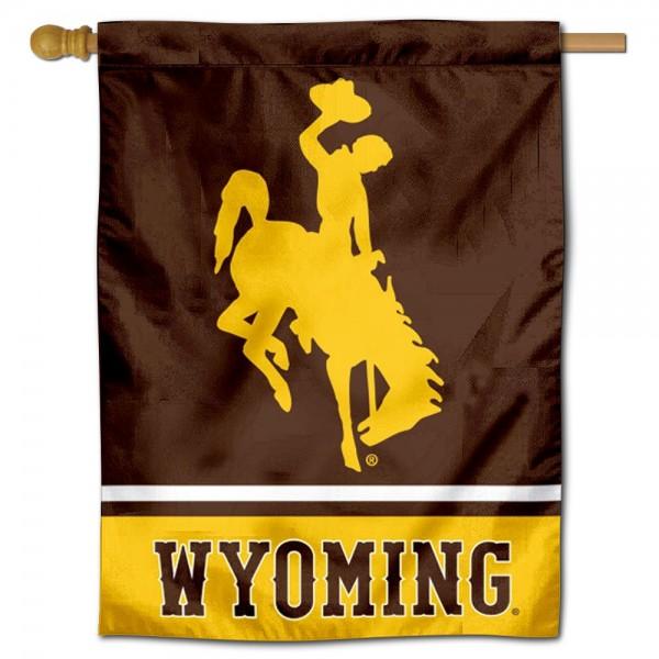 Wyoming Cowboys House Flag