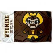 Wyoming Cowboys Tokyodachi Cartoon Mascot Flag