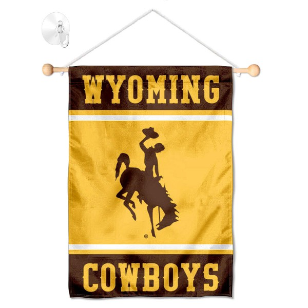 Wyoming Cowboys Window Hanging Banner with Suction Cup