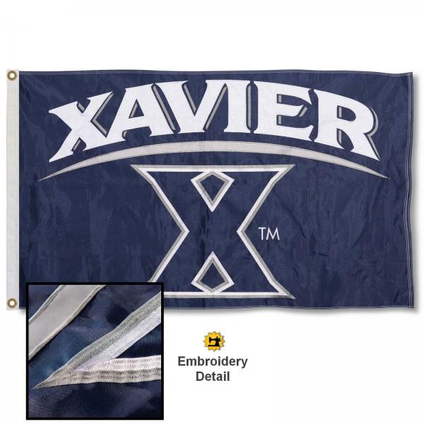 Xavier Musketeers Appliqued Nylon Flag