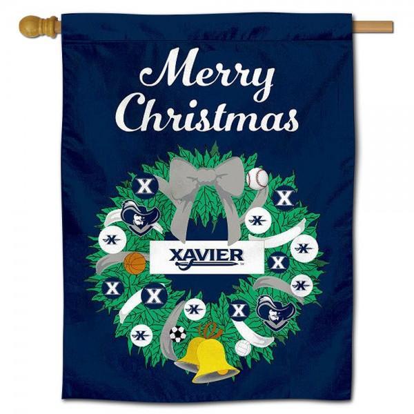 Xavier Musketeers Christmas Holiday House Flag