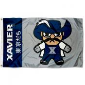 Xavier Musketeers Tokyodachi Cartoon Mascot Flag