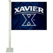 Xavier University Blue Car Flag