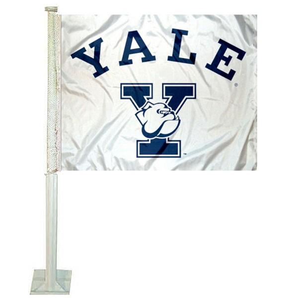 Yale Bulldogs Car Flag
