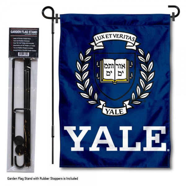 Yale Bulldogs Garden Flag and Holder