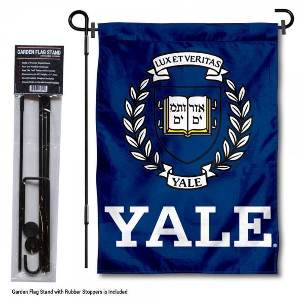 Yale Bulldogs Garden Flag and Holder