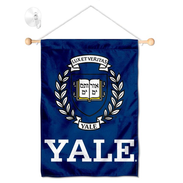 Yale Bulldogs Window Hanging Banner with Suction Cup