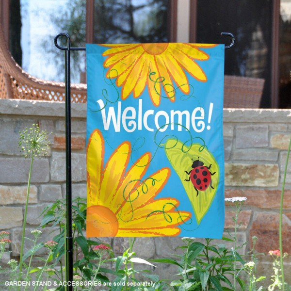Yellow Flowers Garden Banner