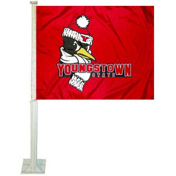 YSU Penguins Car Flag