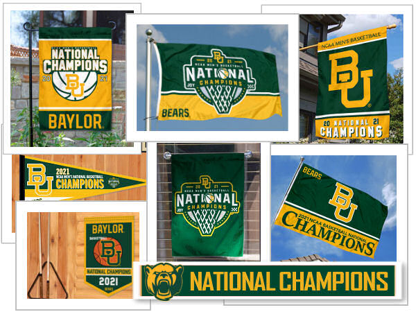 Baylor National Champions Flags and Banners