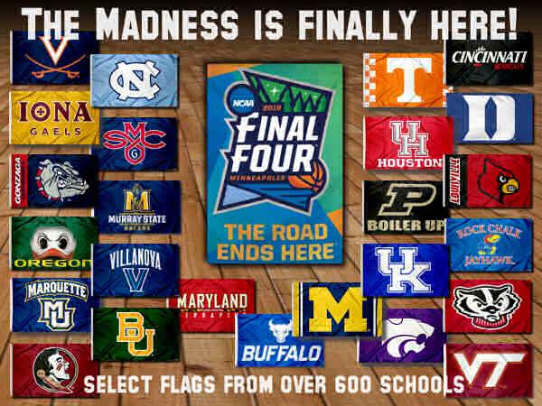 College_Final_Four_Team_Flags