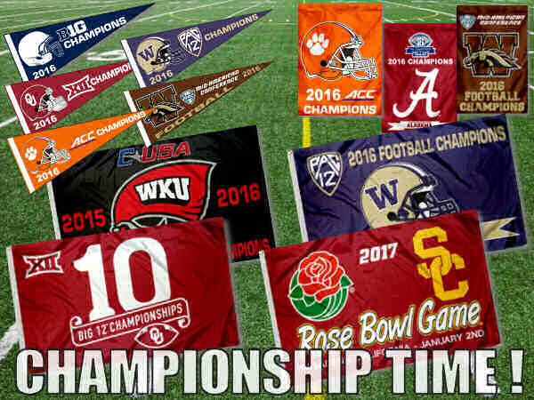 College Championship Flags and Banners