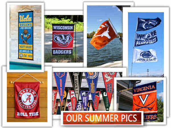 College Flags Summer Flying