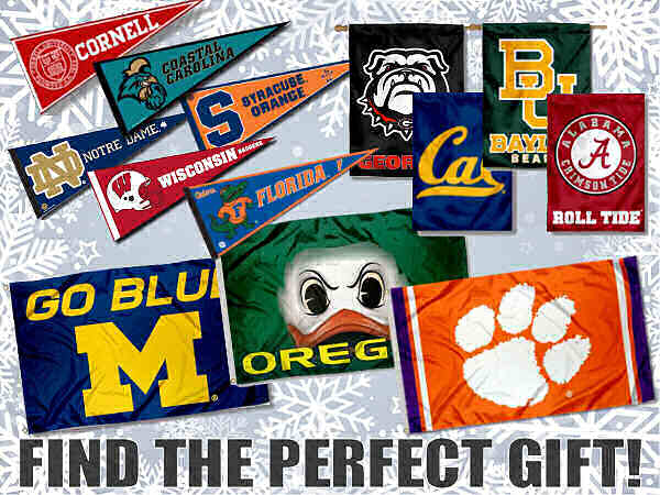 College Flags and Banners Gift Ideas for Holidays
