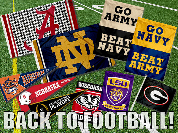 College Football Flags and Banners