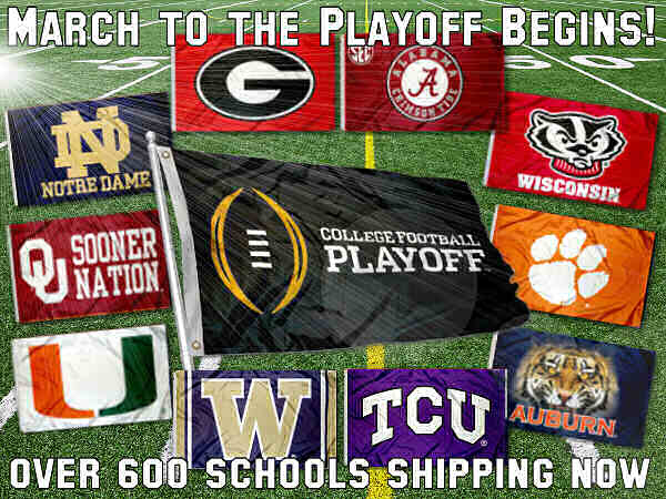 College Football Flags