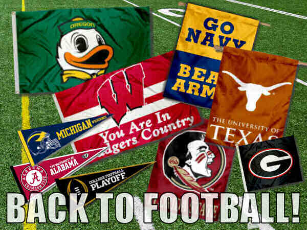 College Football Flags, Banners, and Pennants