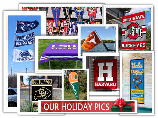 College Flags and Banners for Gifts