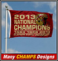 2013 FSU Seminoles Champions Flags and Banners