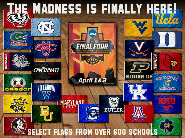 Final Four College Basketball Flags and Banners