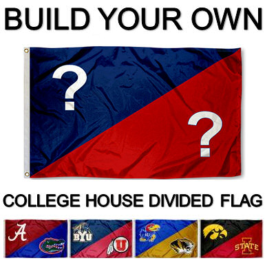 College House Divided Flag At College Flags And Banners Co