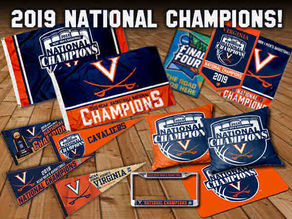 Virginia Cavaliers 2019 Final Four National Champions Flags