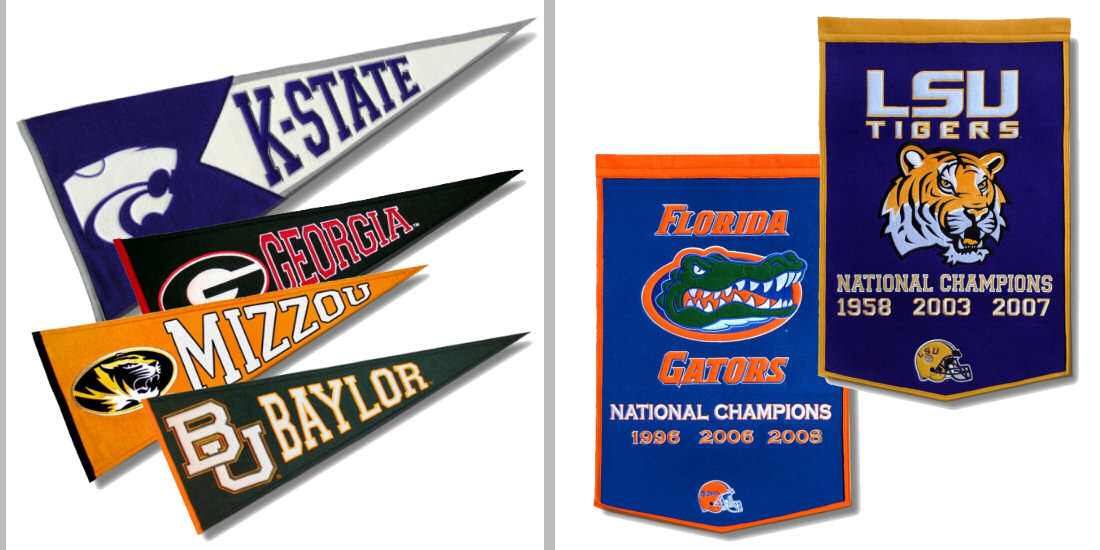 College Wool Pennants
