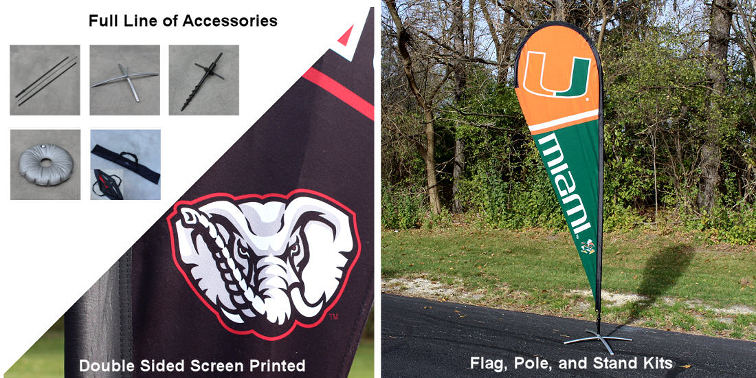 Teardrop Flag and Banner for College Teams