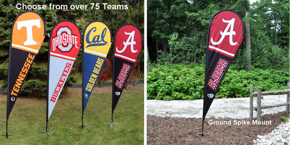 College Teardrop Flags