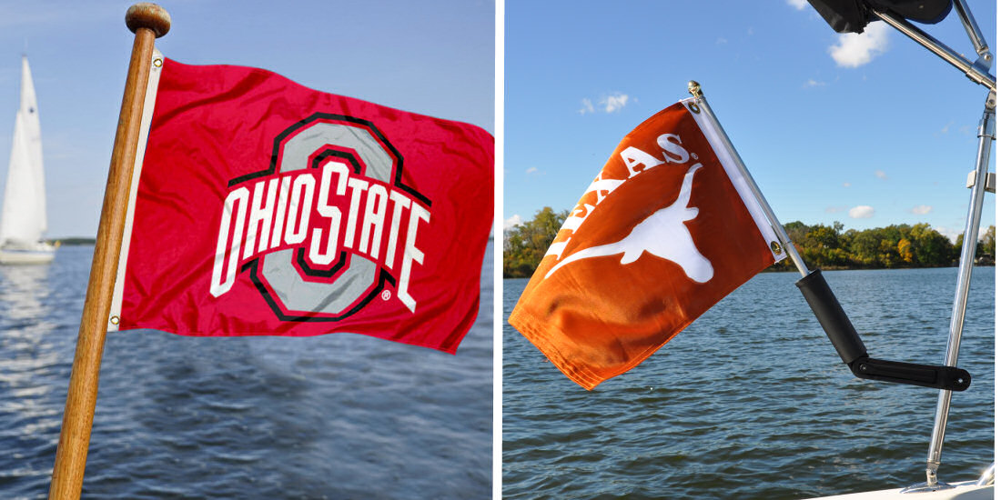 College Boat Flags