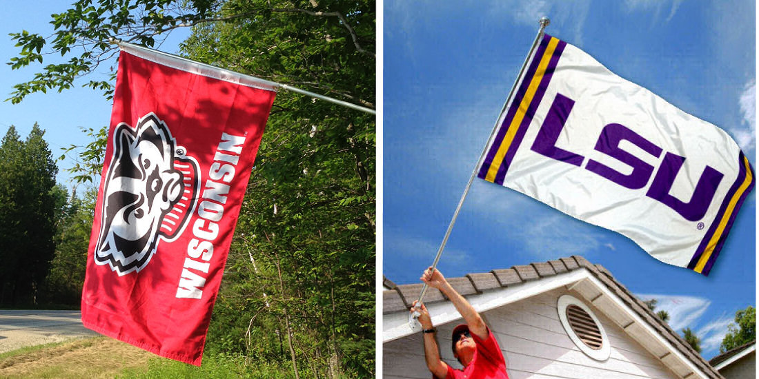 NCAA Team Flags and Stadium Flags