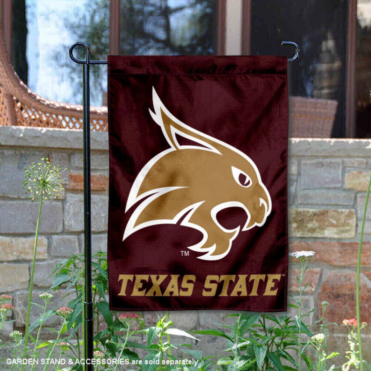 Texas State Bobcats Garden Flag and Garden Flags for Texas State