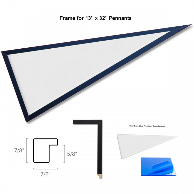 Wood Pennant Frame for 12\