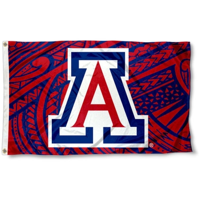 Arizona Wildcats Large Red 3x5 College Flag