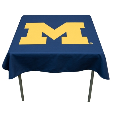 Astounding Tablecloth For Michigan Wolverines Your College Table Covers Gmtry Best Dining Table And Chair Ideas Images Gmtryco